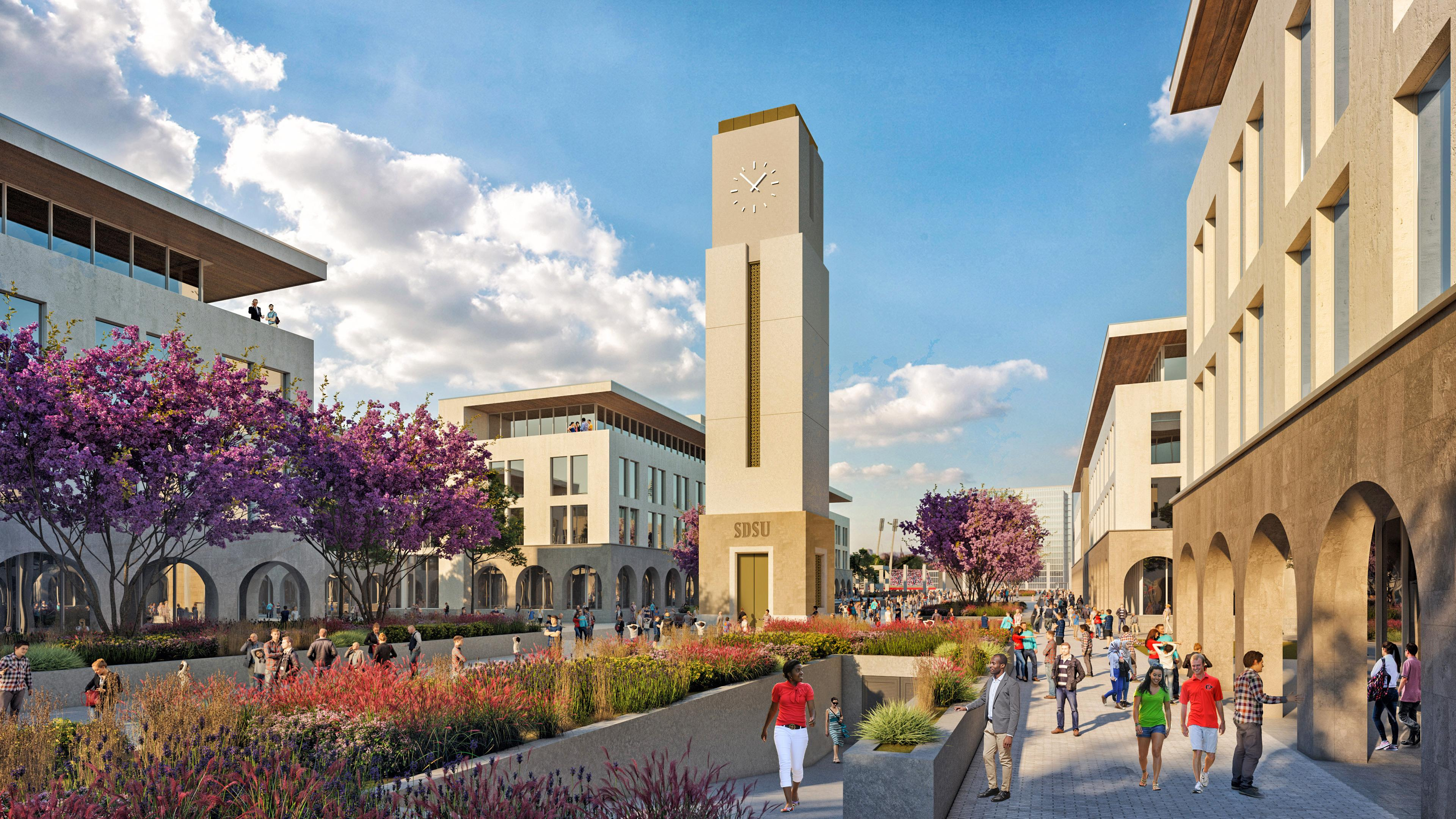Campus Mall At The SDSU Innovation District